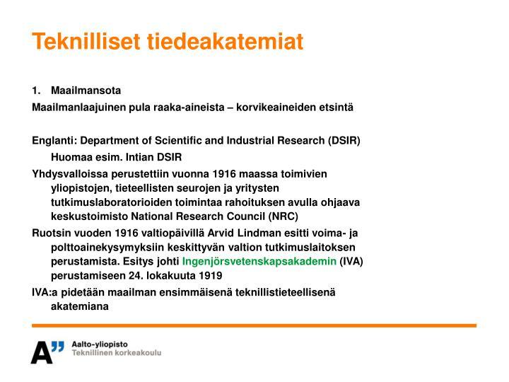 Teknilliset tiedeakatemiat