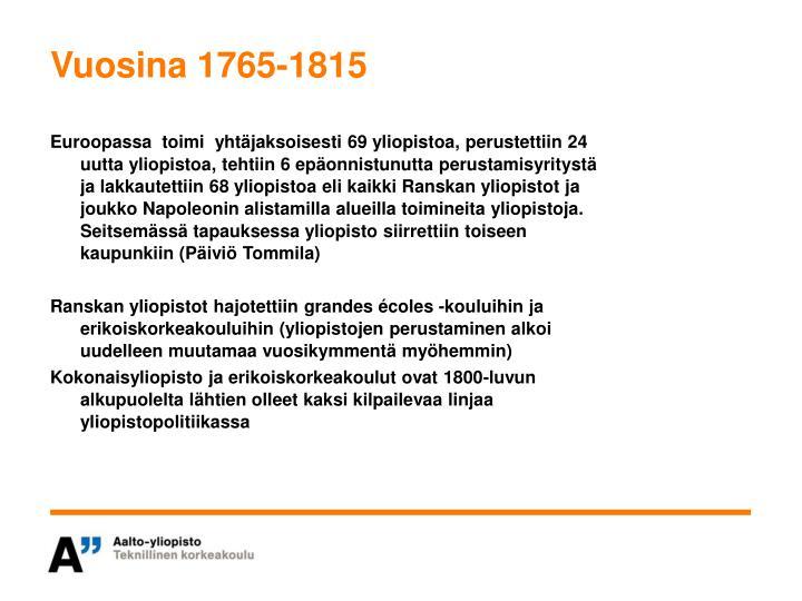 Vuosina 1765-1815