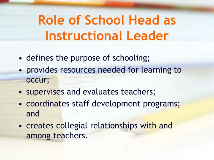 Educational control roles: generally developing
