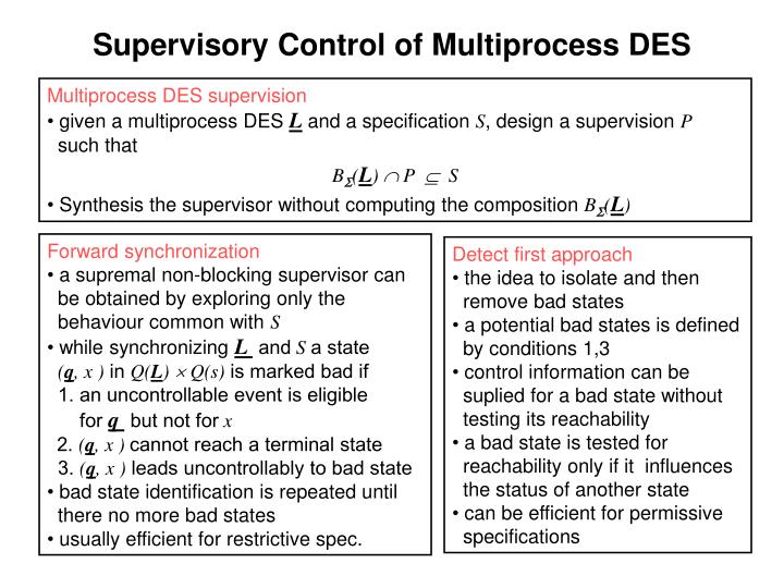 Supervisory Control of Multiprocess DES