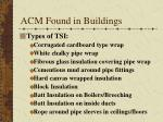 acm found in buildings2