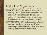 epa s five major facts1
