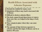 health effects associated with asbestos exposure