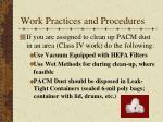 work practices and procedures1