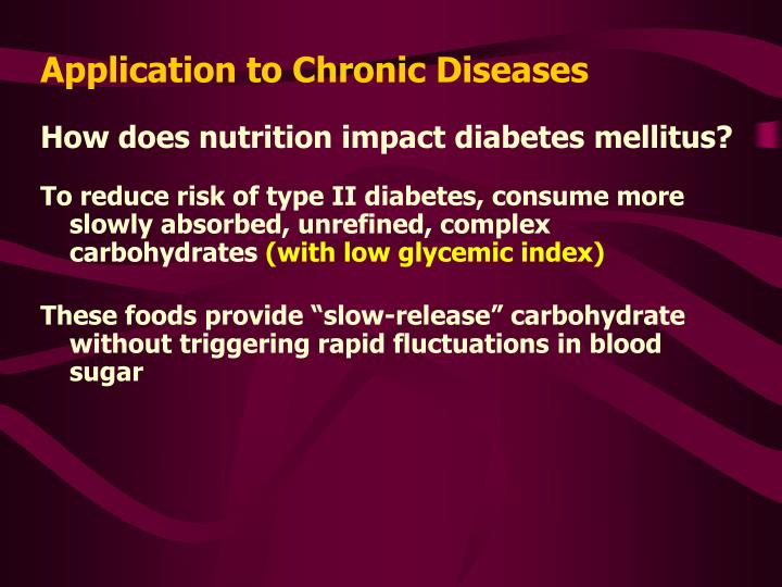 Application to Chronic Diseases