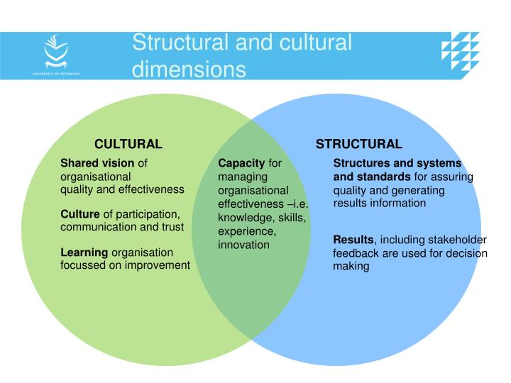 Structural and cultural dimensions