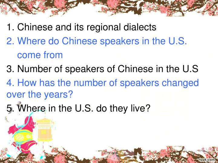 1. Chinese and its regional dialects