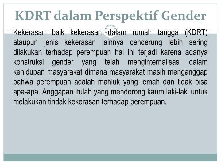 KDRT dalam Perspektif Gender