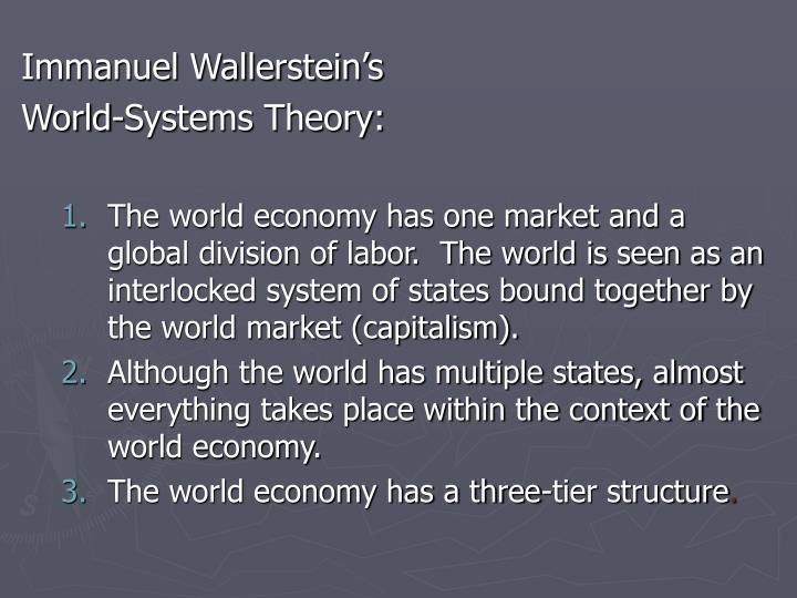 Immanuel Wallerstein's