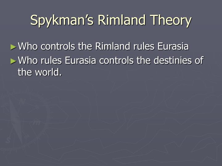 Spykman's Rimland Theory