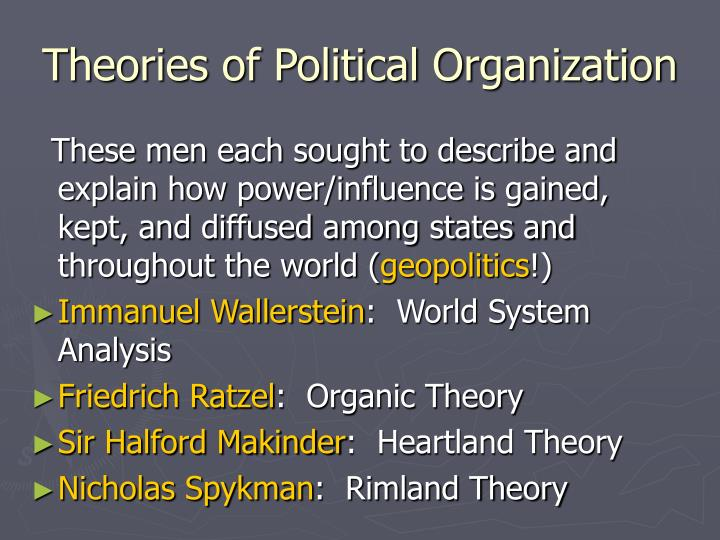 Theories of Political Organization