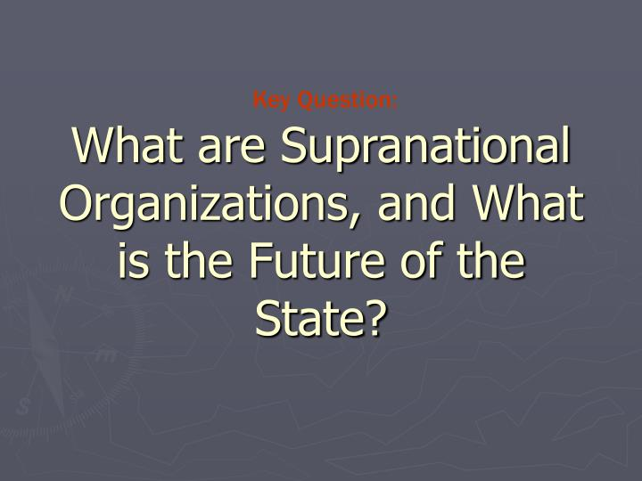 What are Supranational Organizations, and What is the Future of the State?