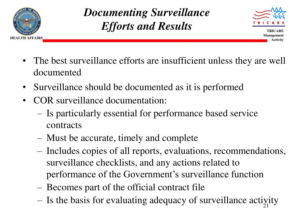 PPT - Contract Surveillance PowerPoint Presentation - ID:3088189