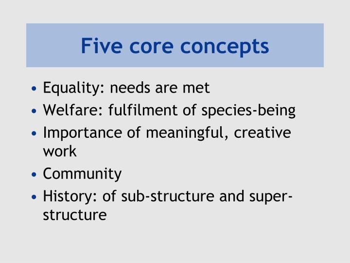 Five core concepts