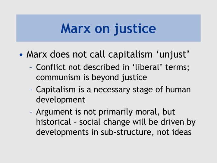 Marx on justice