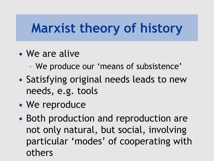 Marxist theory of history