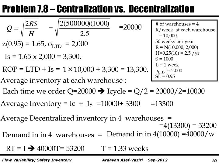 centralization vs decentralization in warehouse and When leaders think about reorganizing it, they usually start with the assumption that they have two options: to centralize or to decentralize of course, in the real.