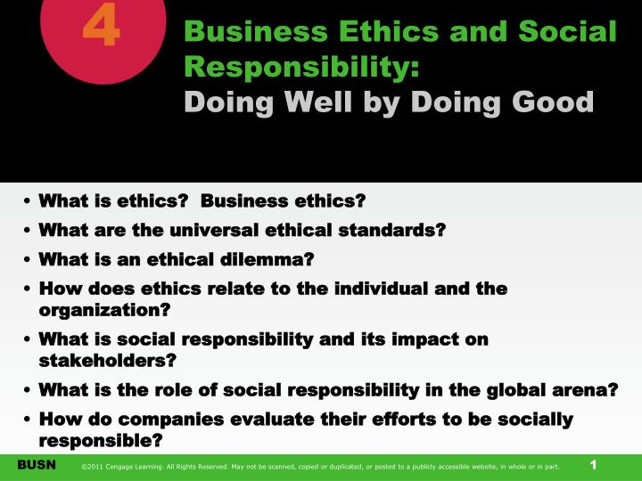 business ethics and social responsibility doing well by doing good n.