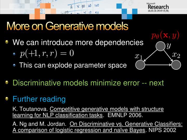 More on Generative models