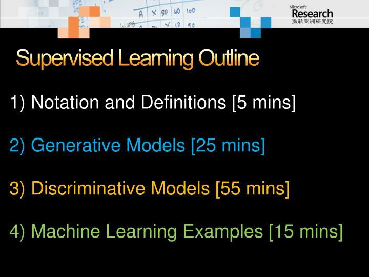 Supervised Learning Outline