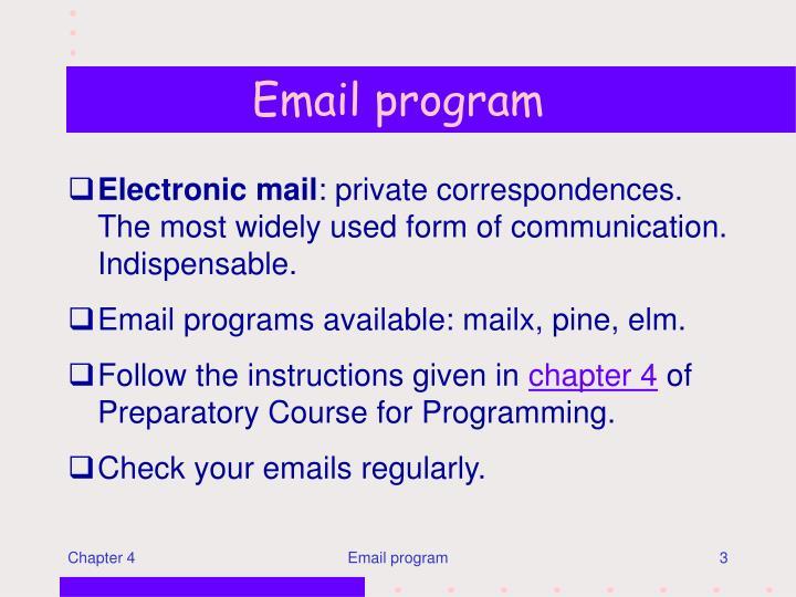 Email program