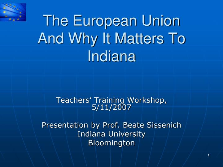 the european union and why it matters to indiana n.