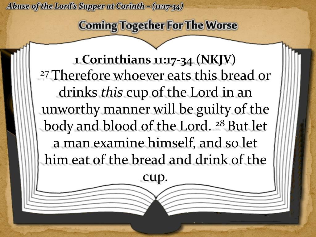 PPT - 1 Corinthians 11:17-34 PowerPoint Presentation - ID