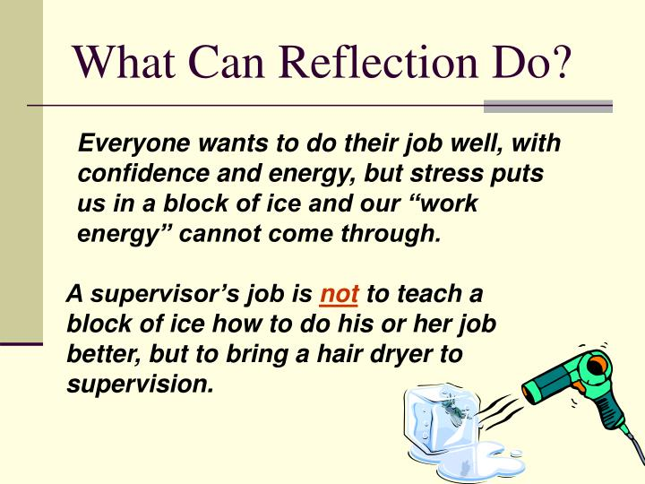 What Can Reflection Do?