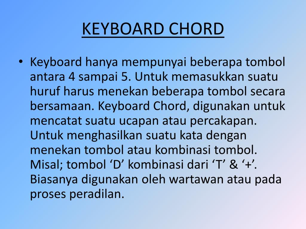 Ppt Sejarah Keyboard Chord Powerpoint Presentation Free Download Id 3088838