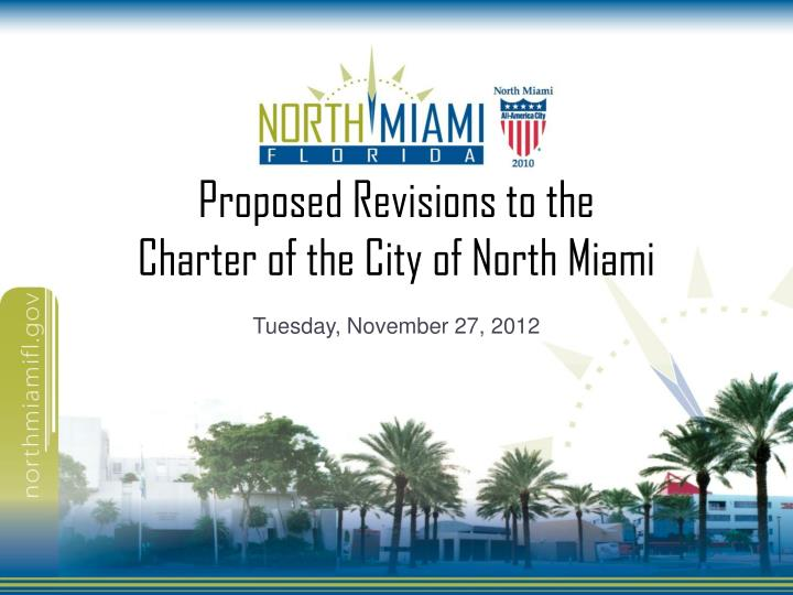 proposed revisions to the charter of the city of north miami n.