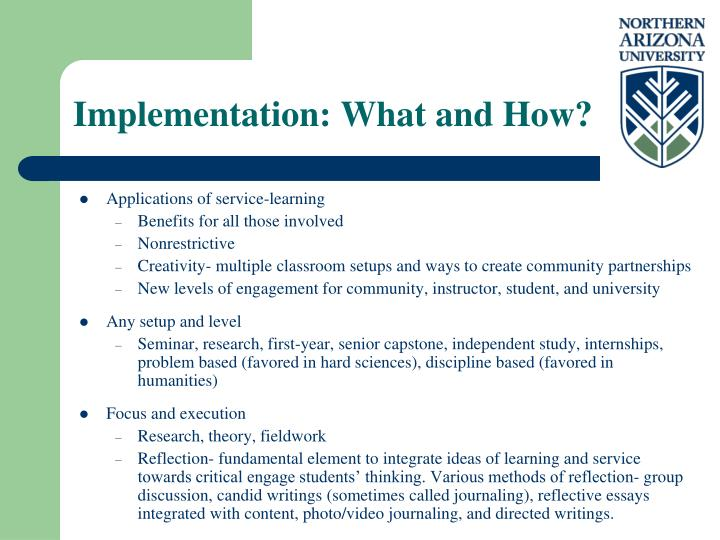 Implementation: What and How?