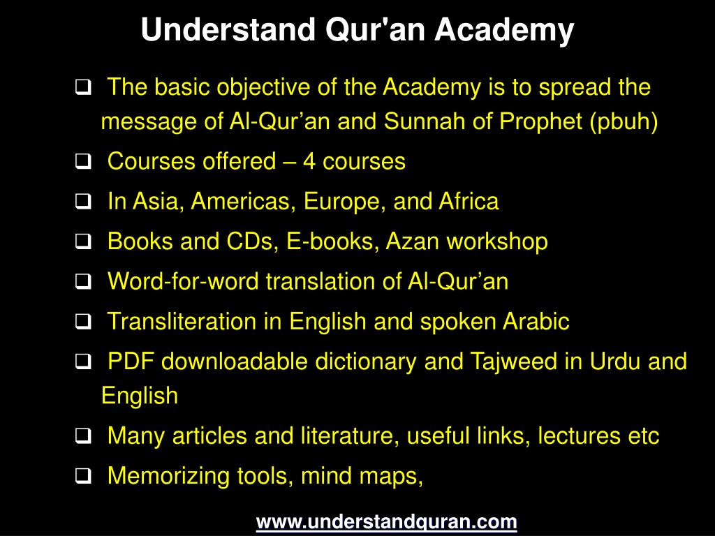 PPT - Short Course Understand Al-Qur'an & Salah The Easy Way