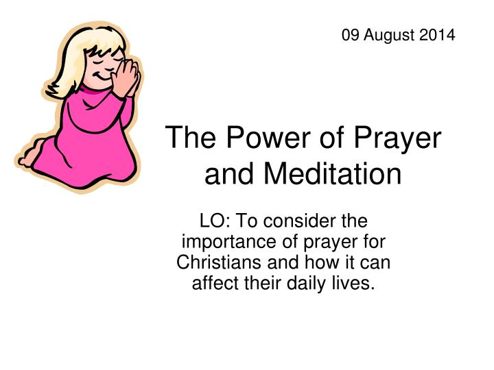 the power of prayer and meditation n.