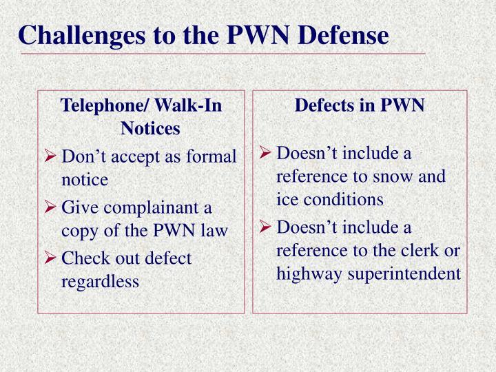 Telephone/ Walk-In Notices
