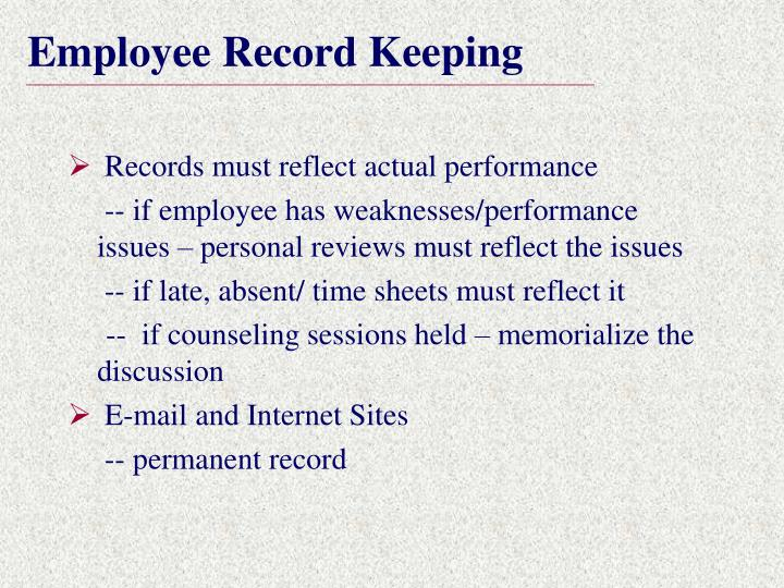 Employee Record Keeping