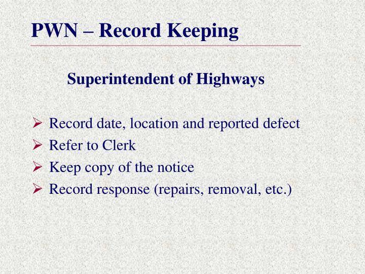 Superintendent of Highways