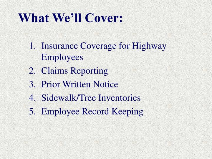 What we ll cover