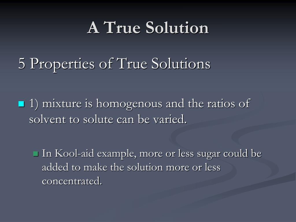 Ppt - Definition  Solution Powerpoint Presentation