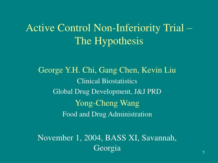 active control non inferiority trial the hypothesis n.