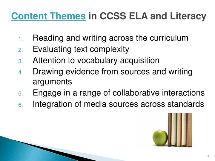 Content themes in ccss ela and literacy