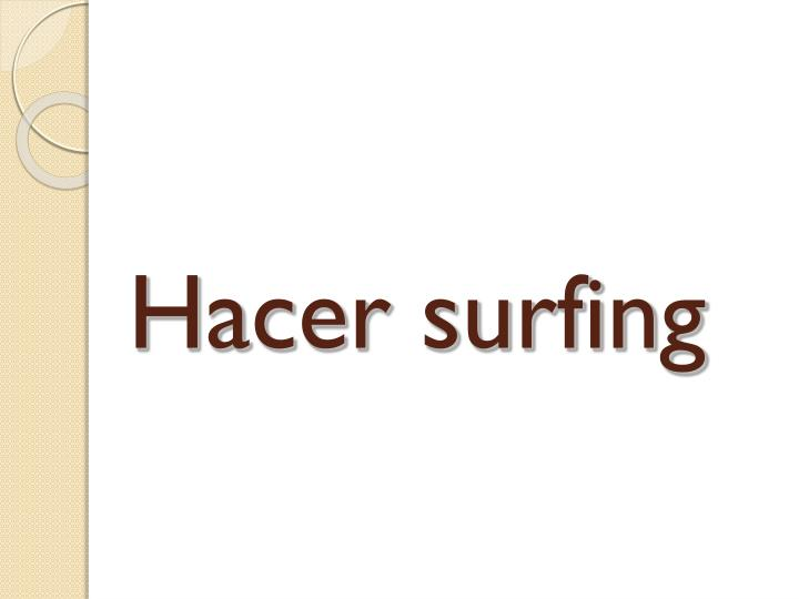 Hacer surfing