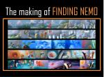 the making of finding nemo