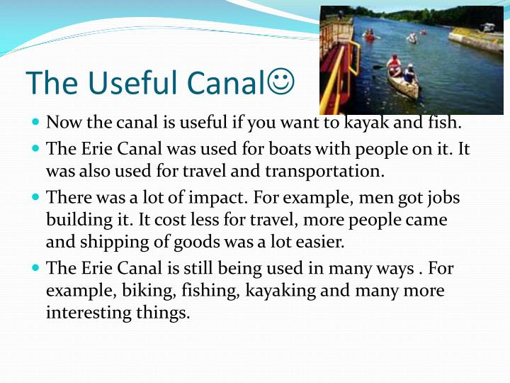 The Useful Canal