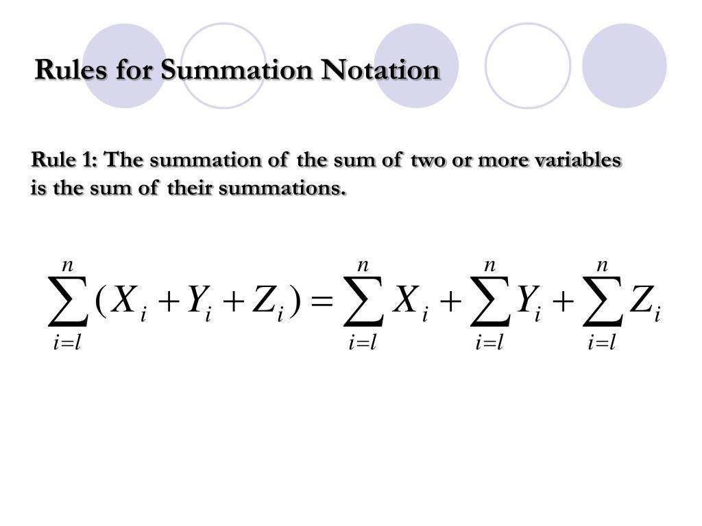 PPT - SUMMATION NOTATION PowerPoint Presentation - ID:3089551