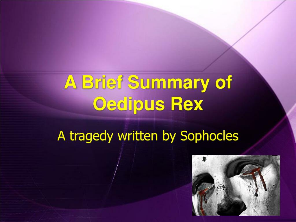 oedipus complex story summary