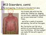 13 disorders contd