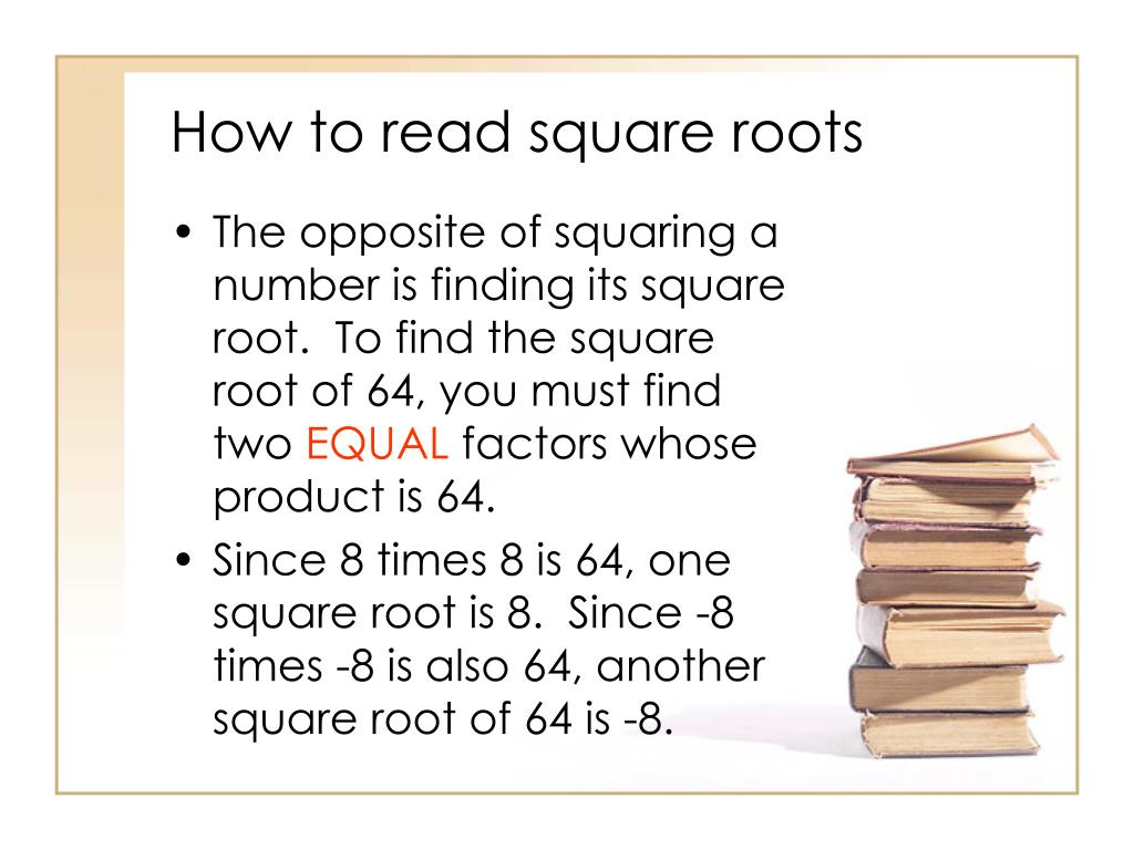 Ppt 12 2 Square Roots Powerpoint Presentation Free Download Id 3089864