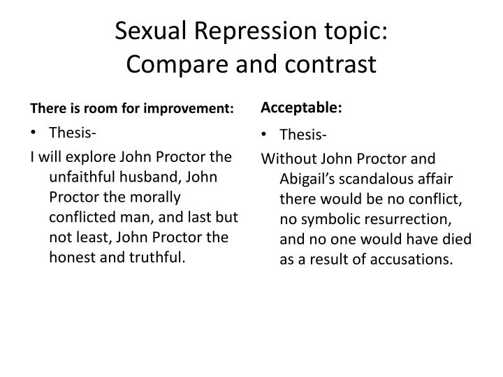 divided thesis statement compare and contrast Compare & contrast essayshow things are similar or different compare and contrast is a common form of academic writing, either as this will highlight not simply the paragraphs, but also the thesis statement and summary, as these repeat the comparisons and contrasts contained in the main body.