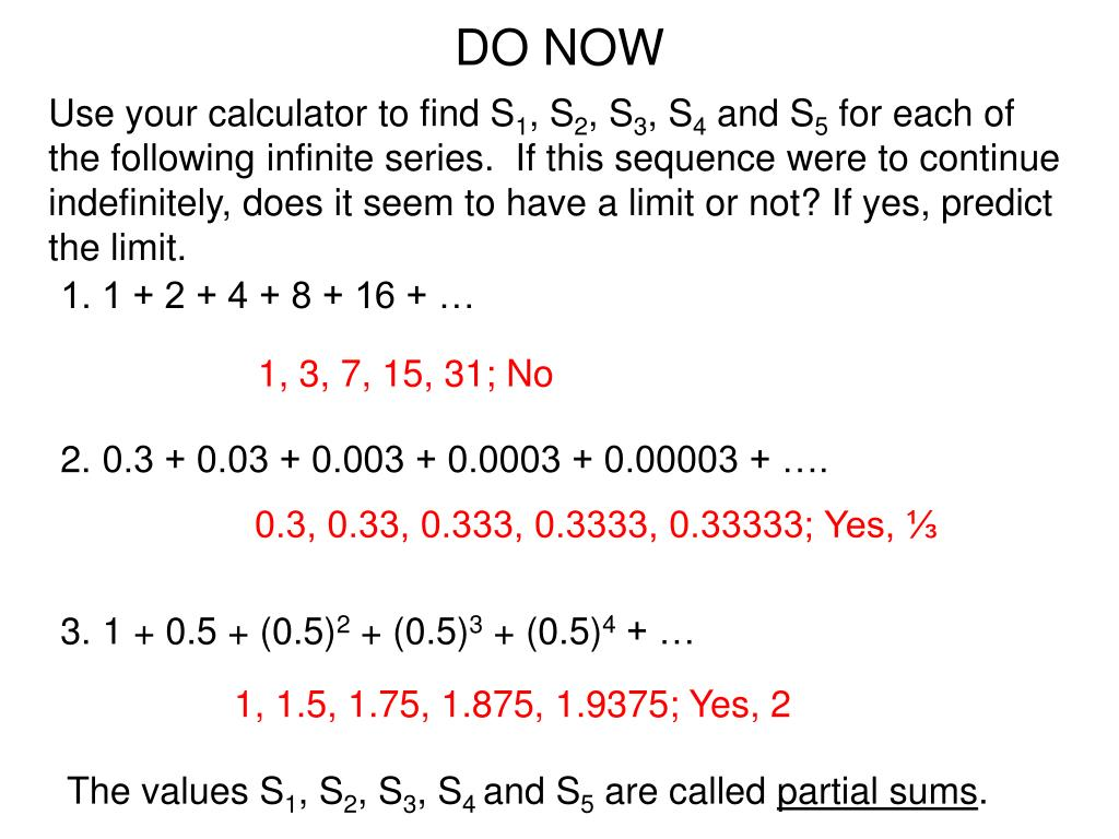 PPT - Chapter 13: Sequences & Series PowerPoint Presentation - ID