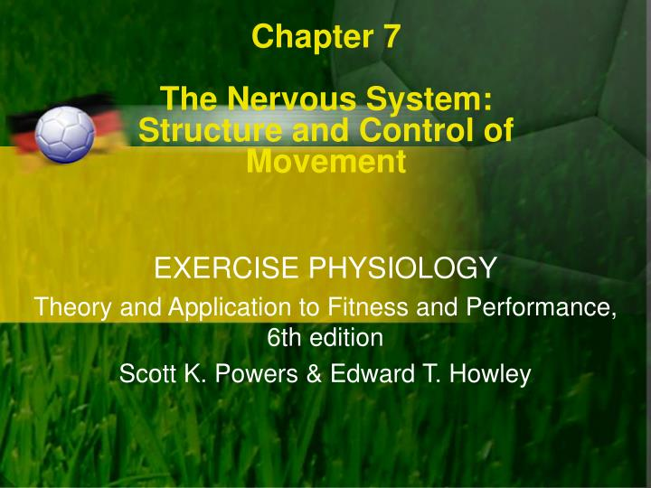 chapter 7 the nervous system structure and control of movement n.